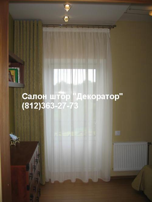 шторы на кольцах для спальни
